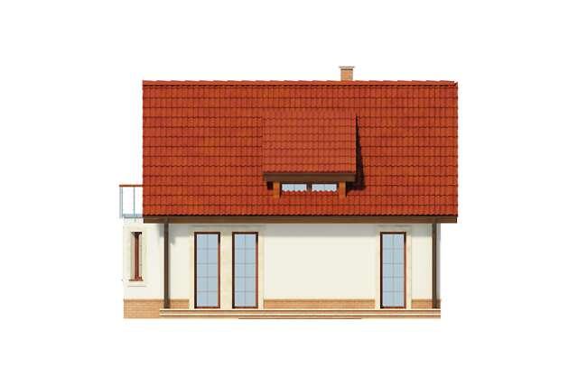 Zobacz powiększenie elewacji ogrodowej - projekt Split