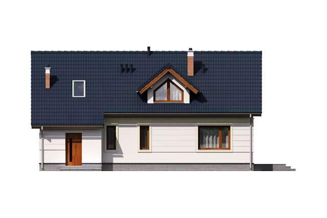 Zobacz powiększenie elewacji ogrodowej - projekt Bergen IV