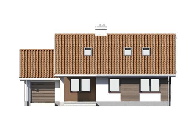 Zobacz powiększenie elewacji frontowej - projekt Dortmund III