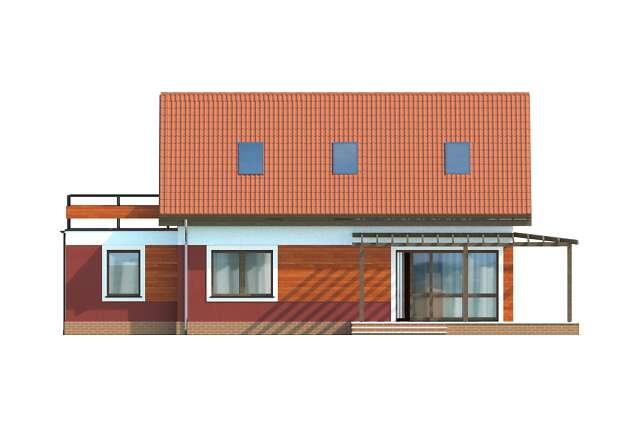 Zobacz powiększenie elewacji ogrodowej - projekt Vigo II