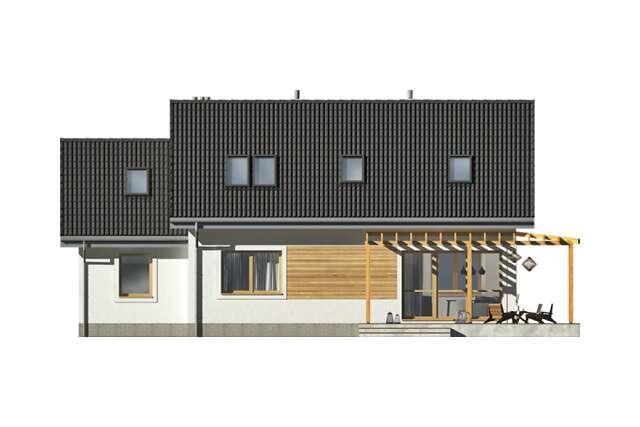 Zobacz powiększenie elewacji ogrodowej - projekt Vigo IV