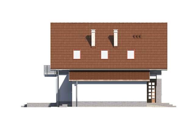 Zobacz powiększenie elewacji bocznej lewej - projekt Malmo II