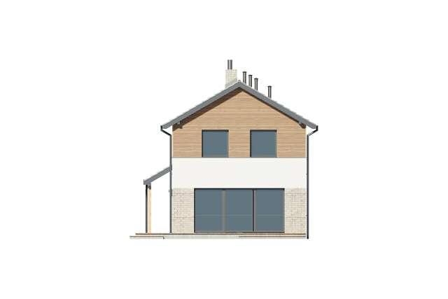 Zobacz powiększenie elewacji ogrodowej - projekt Brunico