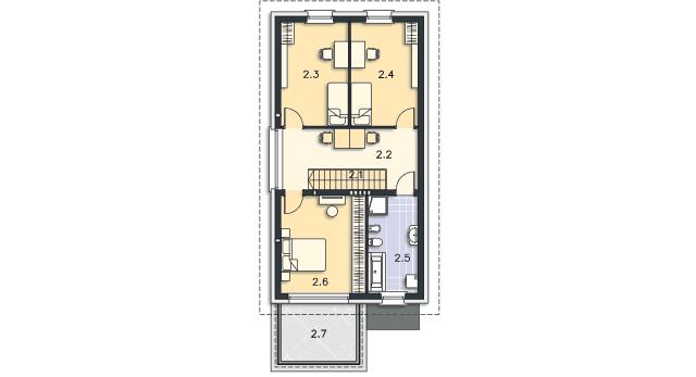 Rzut kondygnacji Piętro - projekt Brunico II
