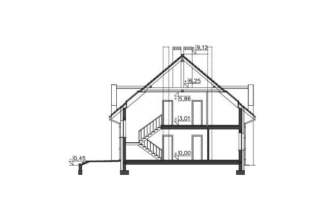 Zobacz powiększenie przekroju - projekt Budynek agroturystyczny Dąb 3
