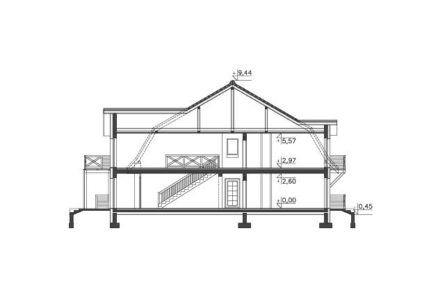 Zobacz powiększenie przekroju - projekt Budynek agroturystyczny Ambrowiec
