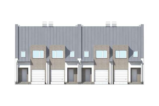 Zobacz powiększenie elewacji frontowej - projekt Miltown