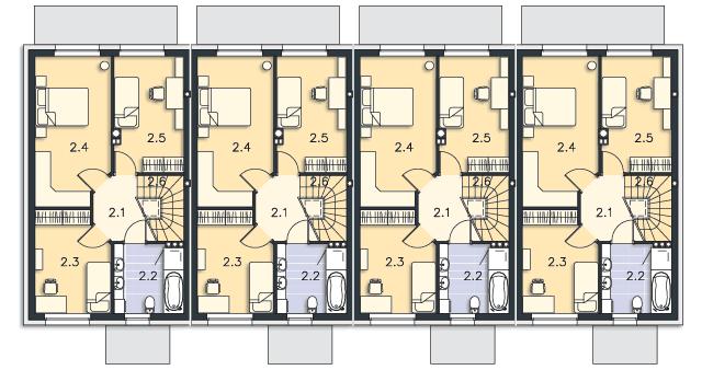 Rzut kondygnacji Piętro - projekt Manchester