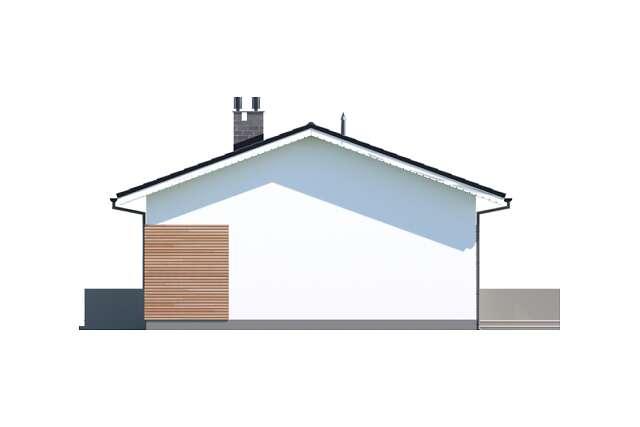 Zobacz powiększenie elewacji bocznej prawej - projekt Oban w.drewniana