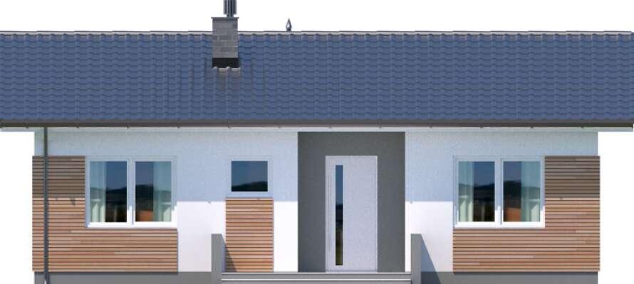 Elewacja frontowa - projekt Oban w.drewniana